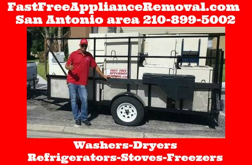 who picks up appliances in San Antonio Texas