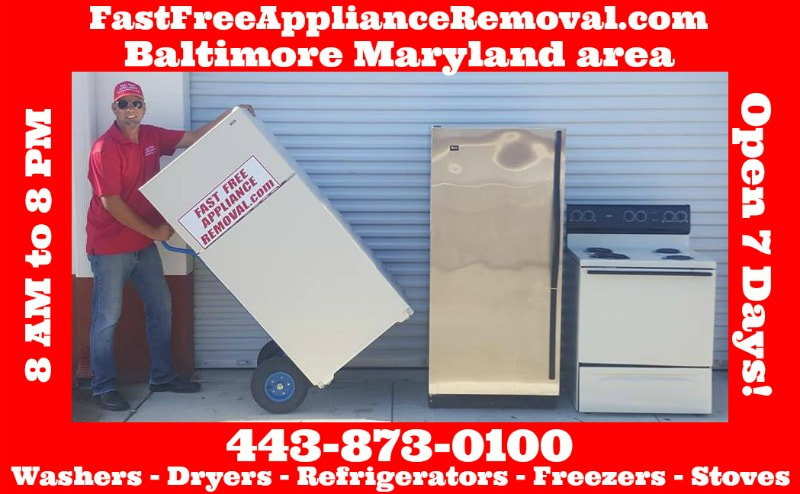 who picks up appliances free in Baltimore Maryland