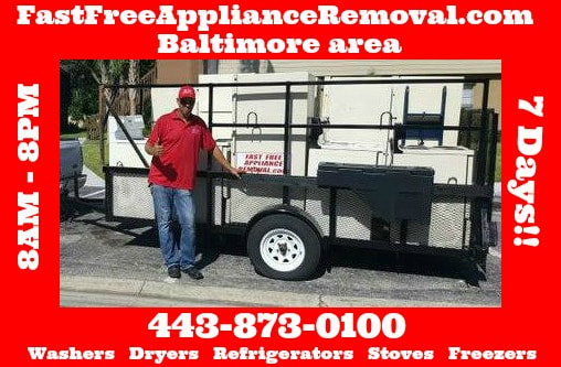 free appliance pick up Baltimore Maryland