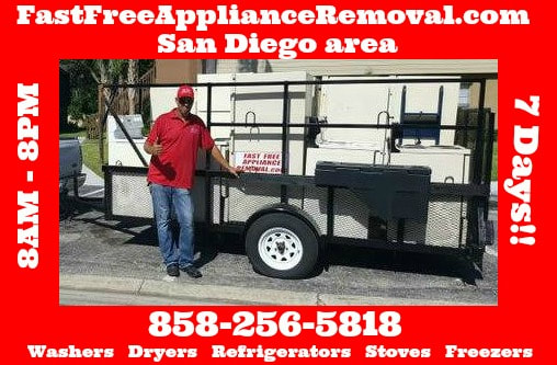 free appliance removal San Diego California