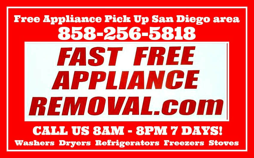 free appliance pick up San Diego California