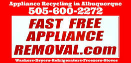 appliances picked up free Albuquerque New Mexico