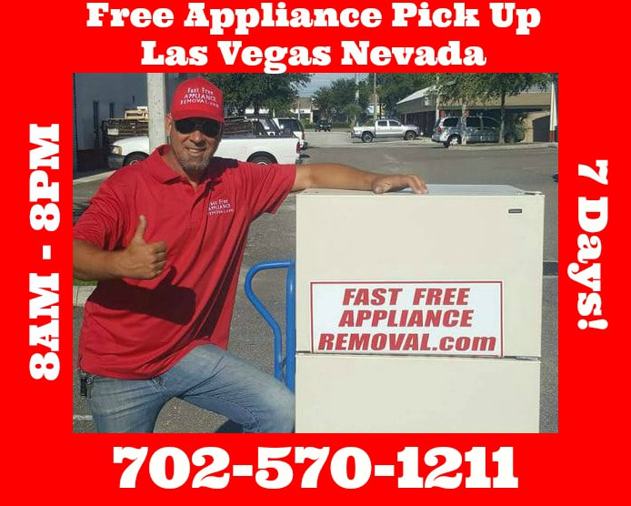 free appliance removal Las Vegas Nevada