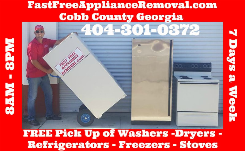 free appliance pick up removal Cobb County GA