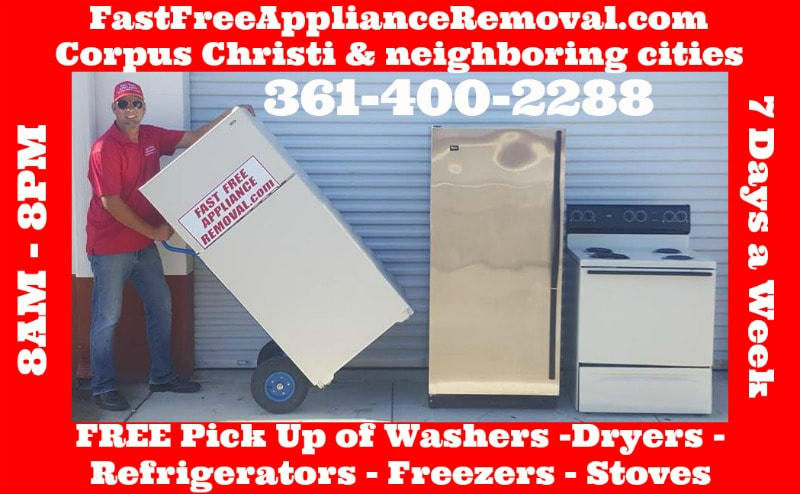 free appliance pick up removal Corpus Christi Texas