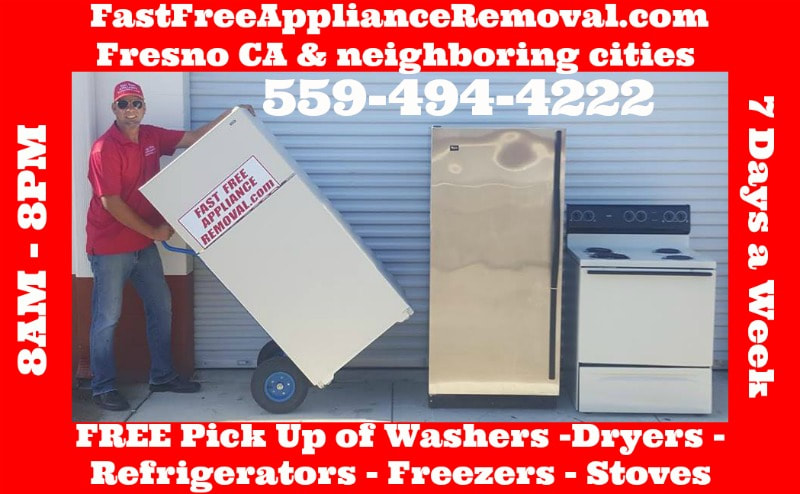 free appliance removal pick up Fresno California