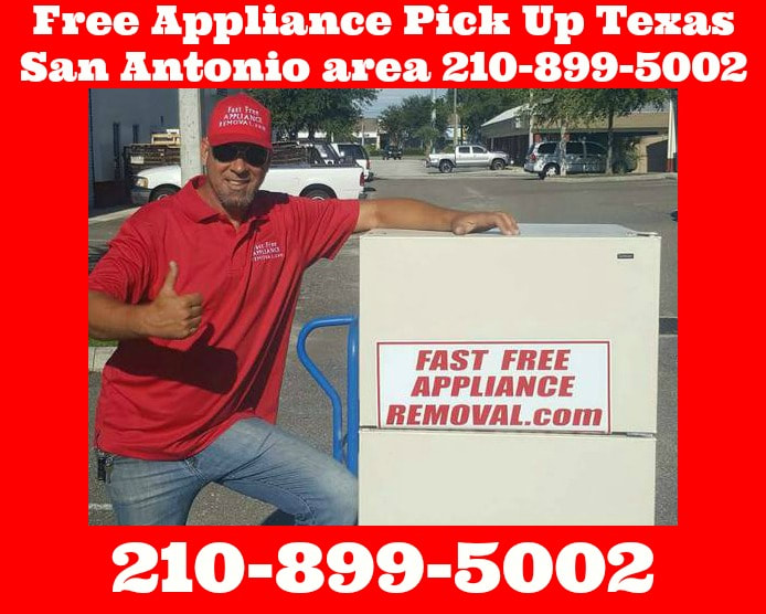 free appliance pick up San Antonio Texas