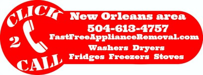 free appliance removal New Orleans Louisiana