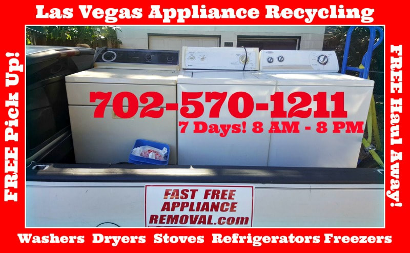washer and dryer pick up Las Vegas Nevada