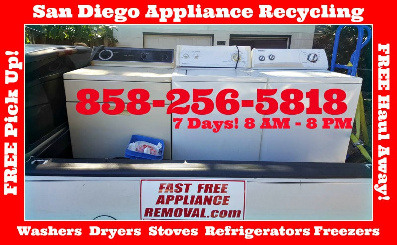 washer and dryer pick up San Diego California