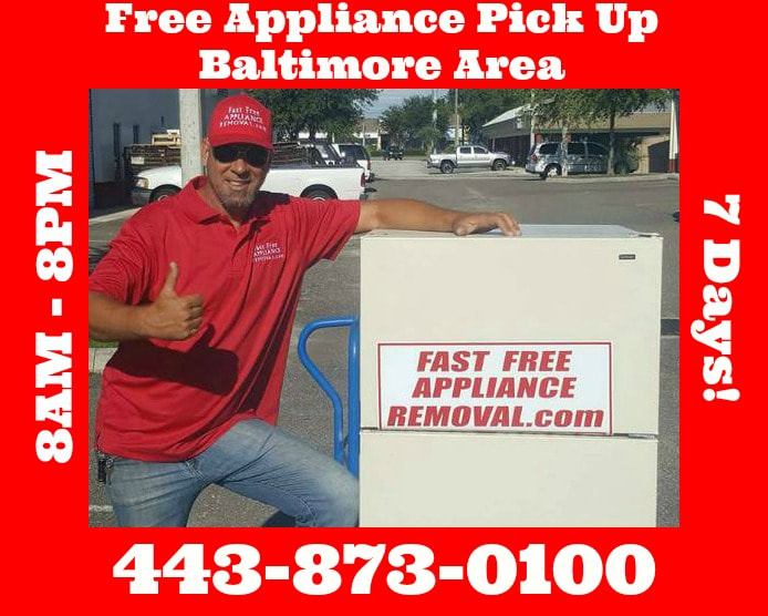 free appliance removal Baltimore Maryland