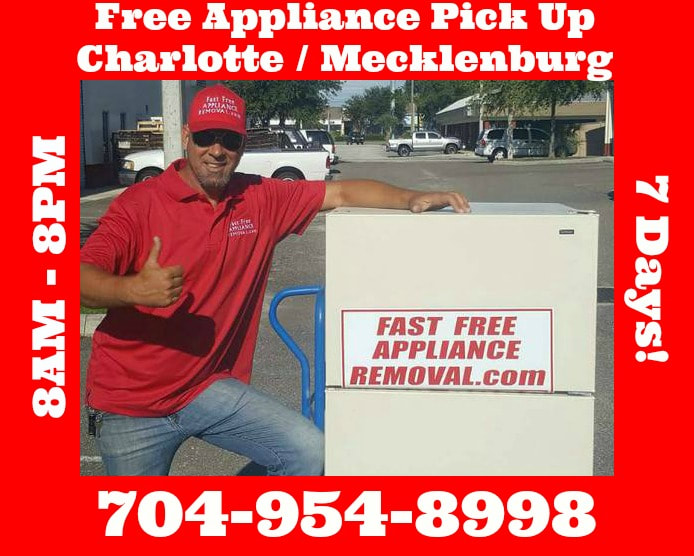 free appliance removal Charlotte NC