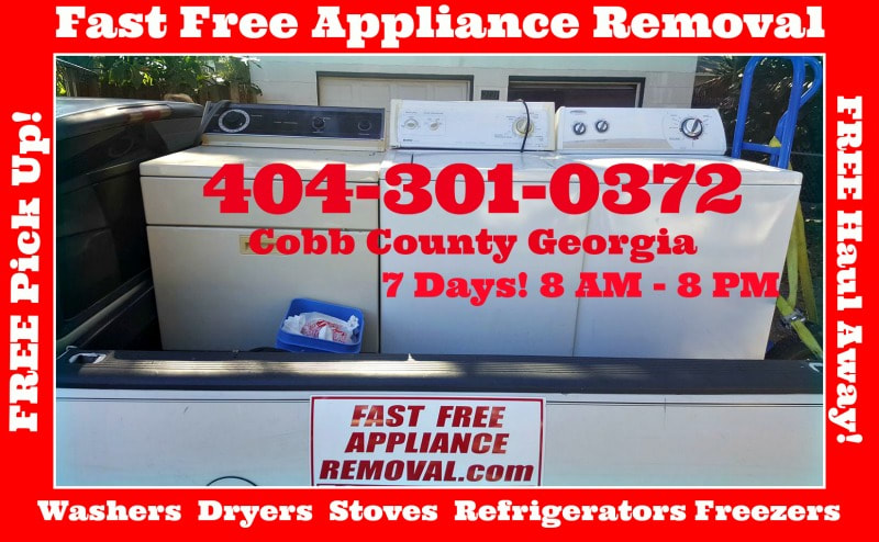 free washer dryer pick up Cobb County Georgia