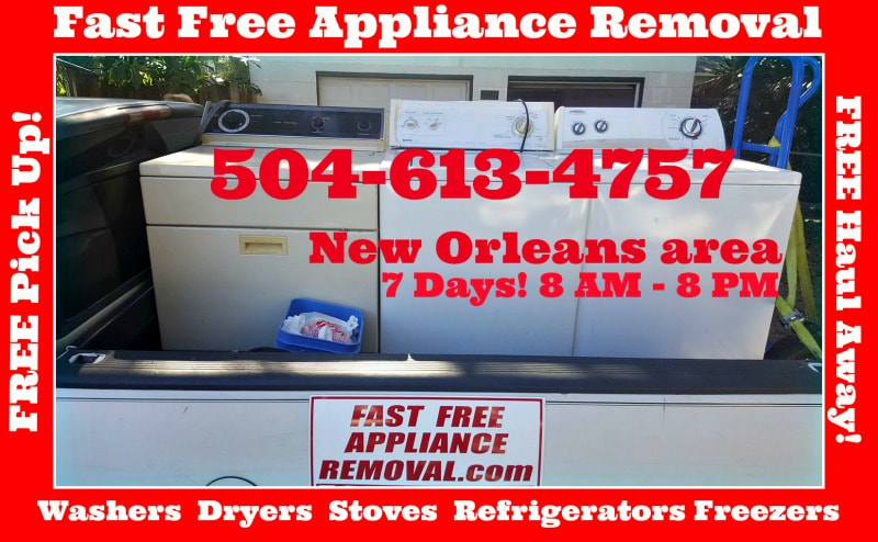 free washer dryer pick up New Orleans Louisiana