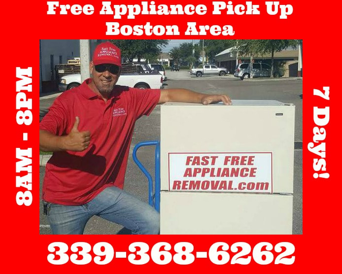 free appliance removal Boston Massachusetts