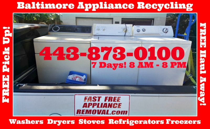 picks up washers and dryers Baltimore Maryland