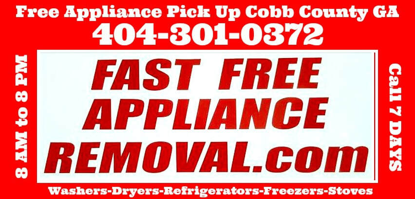 free appliance pick up Cobb County Georgia