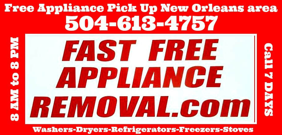 free appliance pick up New Orleans Louisiana