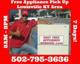 free appliance pick up Louisville Kentucky