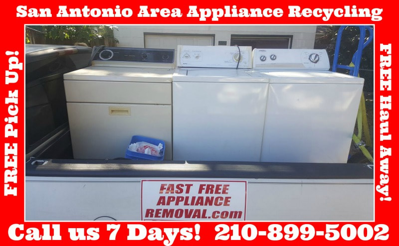 free washer dryer pick up San Antonio Texas